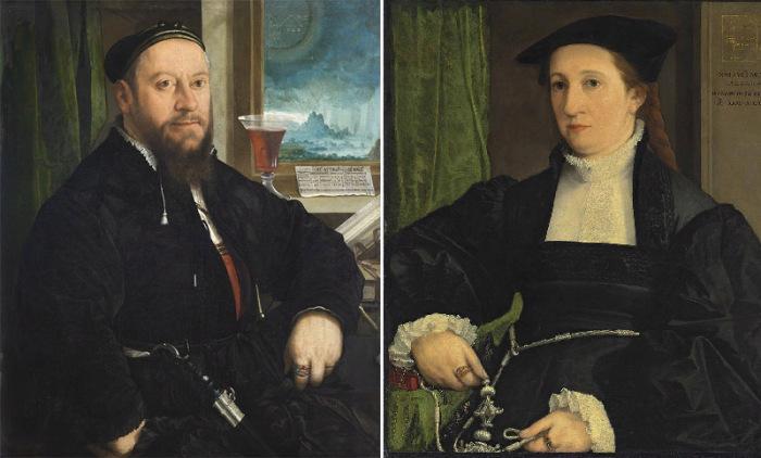 Портреты четы Шварцев кисти Х. Амбергера, 1542 год