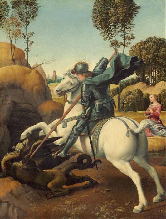 Рафаэль, «Святой Георгий и дракон» (картина, проданная в 30-е годы из коллекции Эрмитажа)