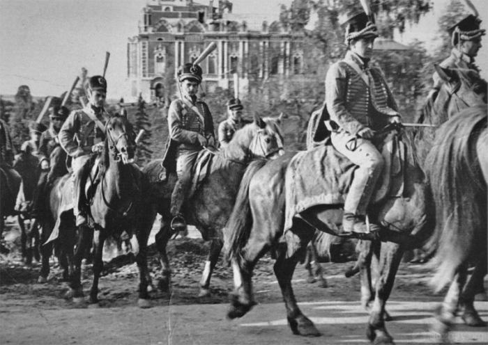 На съемках фильма «Война и мир», 1963 год