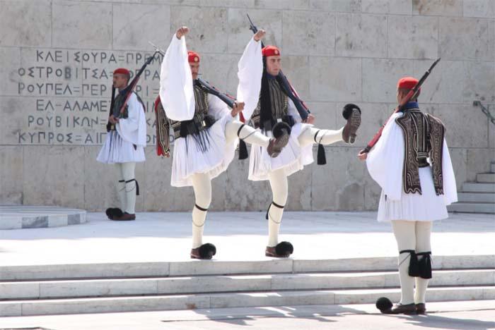 Президентская гвардия в Греции - Эвзоны