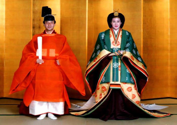 Традиционная свадебная церемония кронпринца Нарухито и Масако Овада, 9 июня 1993 г.