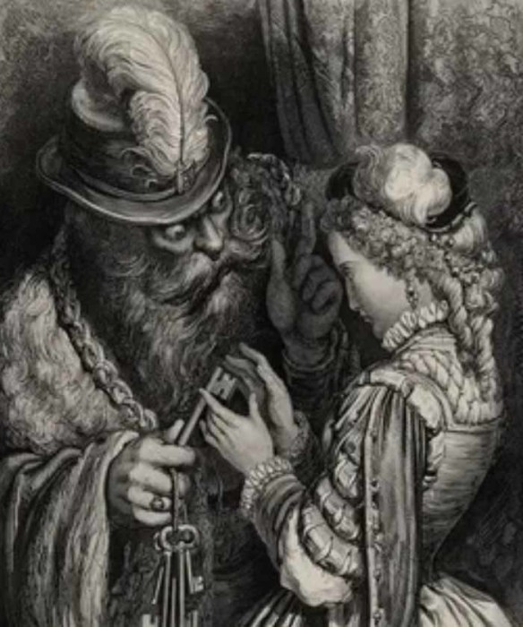 Иллюстрация Гюстава Доре к сказке «Синяя борода»