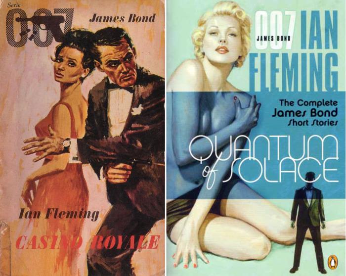 Обложки романов о Джеймсе Бонде
