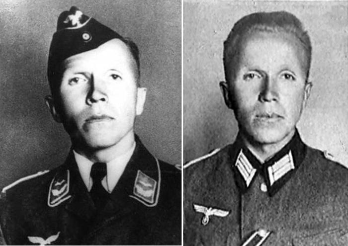Фотографии Николая Кузнецова в немецкой форме. Сначала его хотели сделать офицером люфтваффе, но позже «перевели» в пехоту.