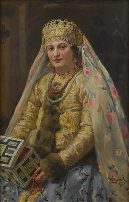 И. Куликов, Боярыня со шкатулкой, 1917