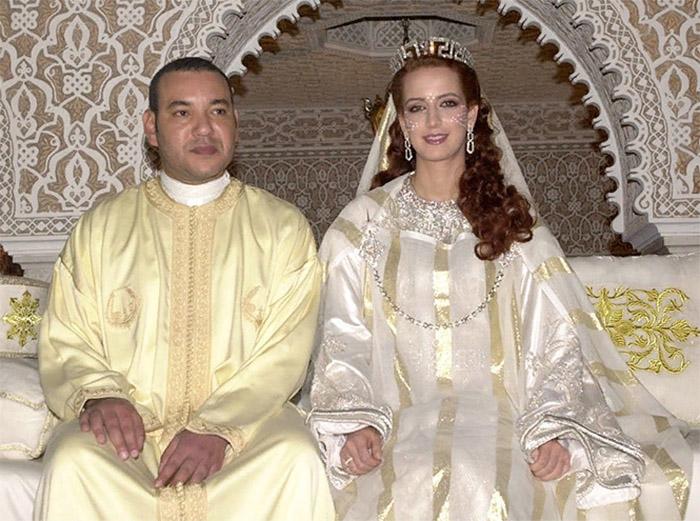 Мухаммед VI и принцесса Лалла Сальма на свадебной церемонии