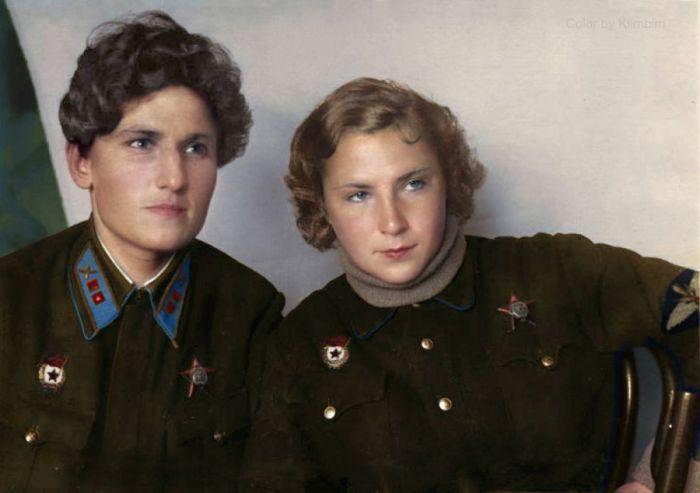 Лучшие подруги и боевые товарищи - Екатерина Буданова и Лидия Литвяк
