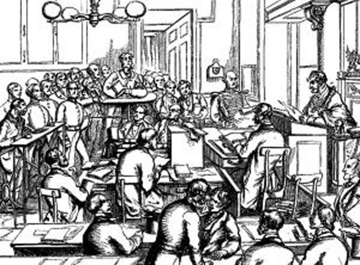 Публичное заседание в Mansion House, на котором вопрос о Джеке-попрыгунчике обсуждался на уровне администрации Лондона