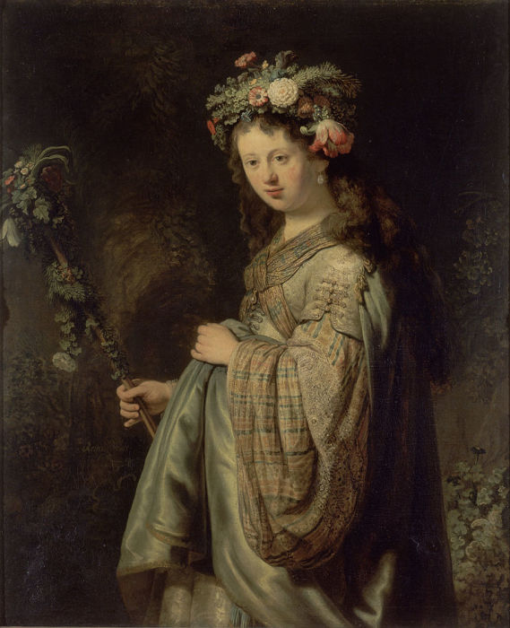 Рембрандт «Флора», 1634 год, Эрмитаж