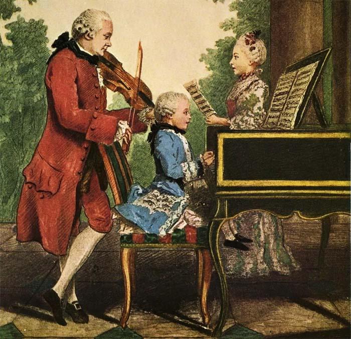 Моцарт-вундеркинд с детства привык к вниманию людей
