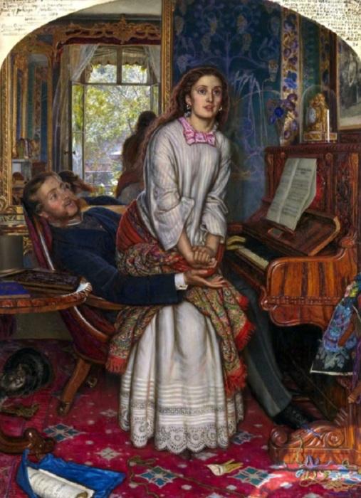 Уильям Холман Хант «Пробуждение совести», 1853 год