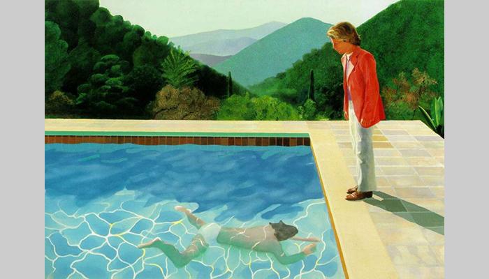 Картина «Портрет художника (Бассейн с двумя фигурами)» была написана в 1972 году всего за 2 недели