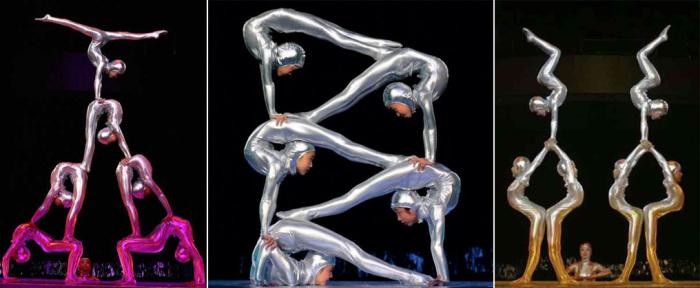 Выступление гимнастов