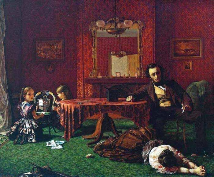 Август Эгг, первая часть триптиха «Прошлое и настоящее», 1858 год