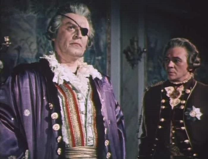 Борис Ливанов в роли князя Потемкина, «Адмирал Ушаков», 1953 г.
