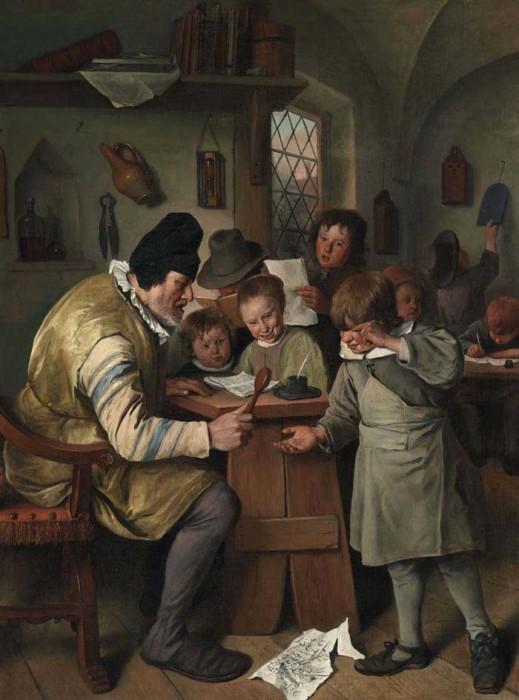 Ян Стен, «Деревенская школа», 1665 г.