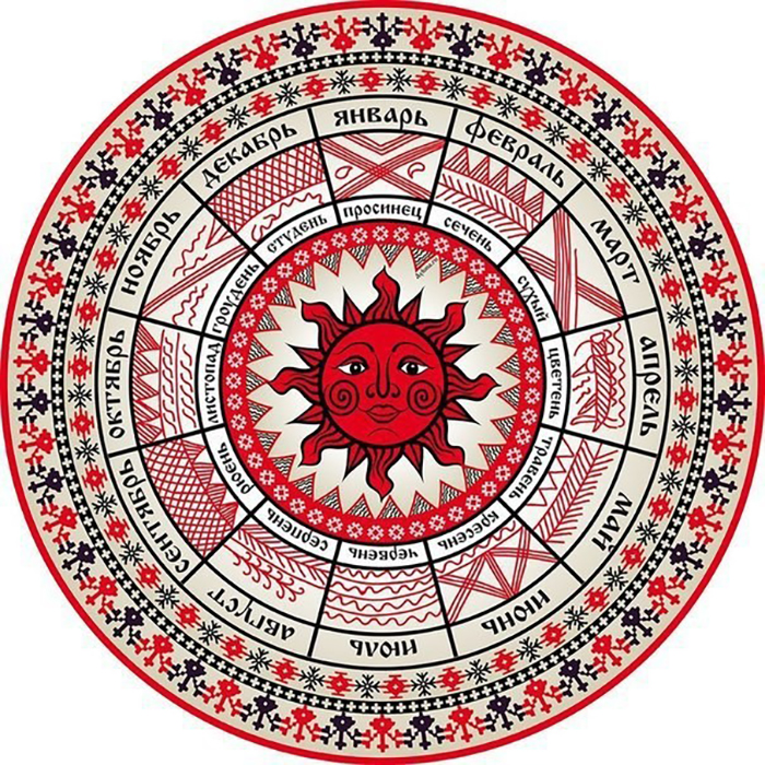 Коло (колесо) - важный символ Солнца, вечного движения, чередования времен года, жизни и смерти