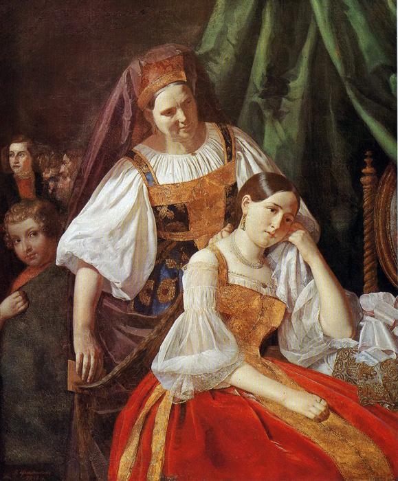 В. Феклистов, Приготовление невесты к венцу, 1848