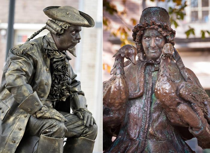 Главная сложность пантомимы живой статуи – это временная неподвижность