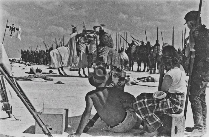 Жара на съемках Ледового побоища в 1938 году