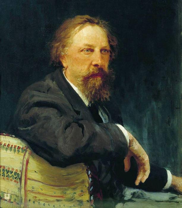 Портрет Алексея Толстого кисти И.Е. Репина