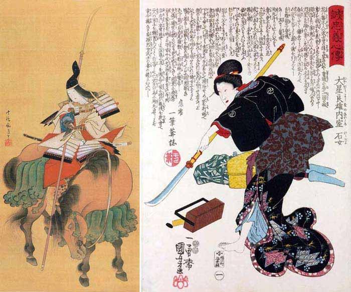 Томоэ Годзэн - средневековая японская воительница, национальная героиня страны, и онна-бугэйся с нагинатой