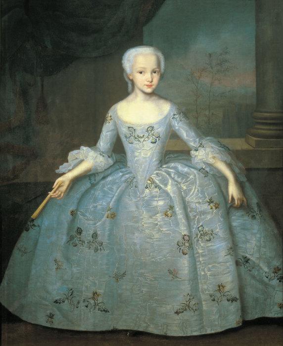 Корсет В XVIII веке не был очень туго затянут и помогал дамам держать осанку во время стояния на многочасовых приемах