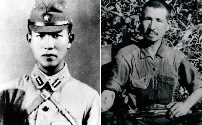 Онода Хироо в начале войны и через тридцать лет