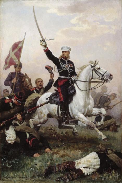 Н. Д. Дмитриев-Оренбургский, «Генерал М. Д. Скобелев на коне», 1883 год