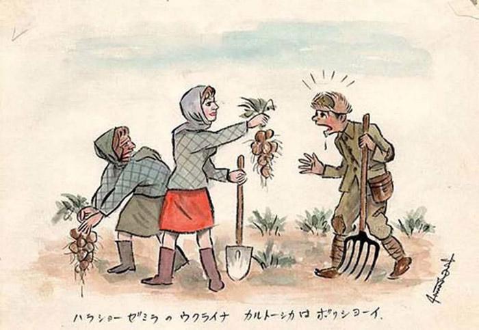 «На, японец, держи картошку!» В любой стране девушки очень добрые. Говорят, что на Украине плодородная земля, и поэтому там очень много картофеля.