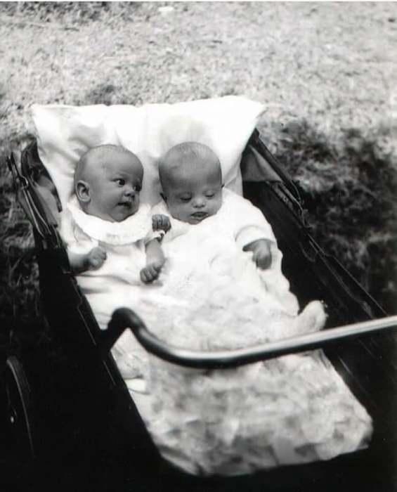 Новорожденные сестры Скотт почти не отличаются друг от друга