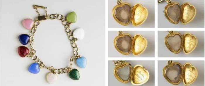 Браслет-чарм с медальонами в форме сердец