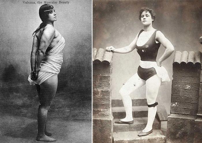 «Вулкана», она же Кейт Робертс на открытках начала XX века