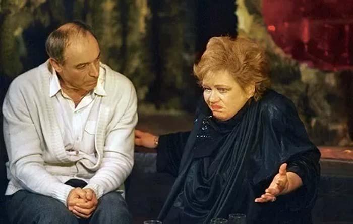Галина Волчек и Валентин Гафт в спектакле «Кто боится Вирджинии Вульф?»