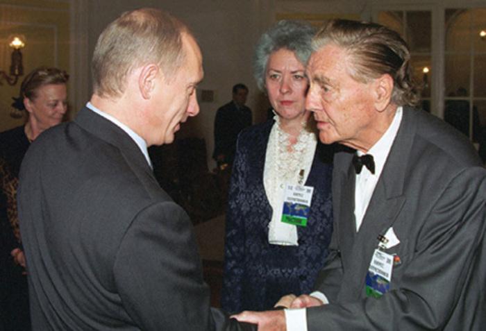 Эдуард Александрович фон Фальц-Фейн с Владимиром Путиным