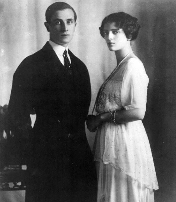Феликс Юсупов со своей невестой Ириной Александровной, 1913 год