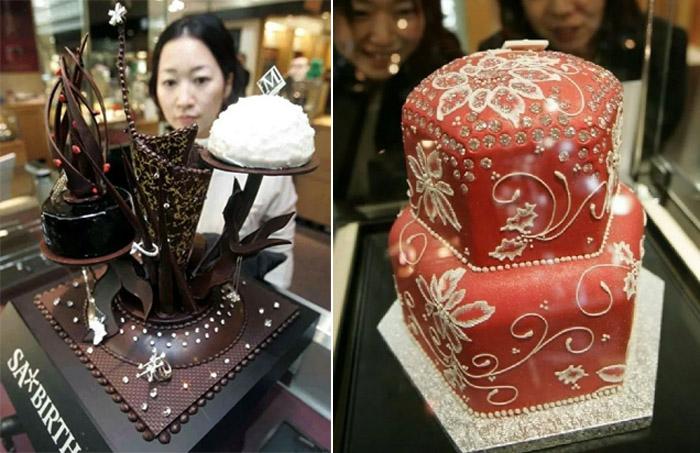 Торты с алмазами для выставок