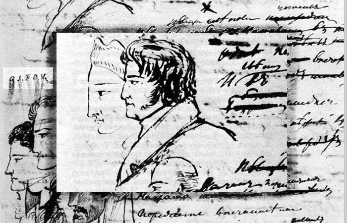 Фёдор Толстой. Рисунок Пушкина