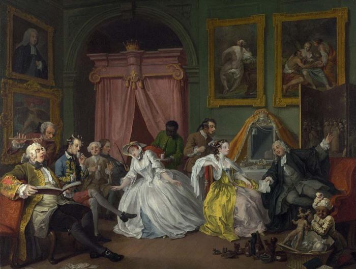 Уильям Хогарт «Будуар графини» («The Countess's Morning Levee»)