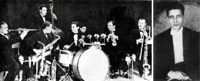 Легендарный джазовый коллектив «Семёрка» и его руководитель Александр Варламов, фото 1930-х годов