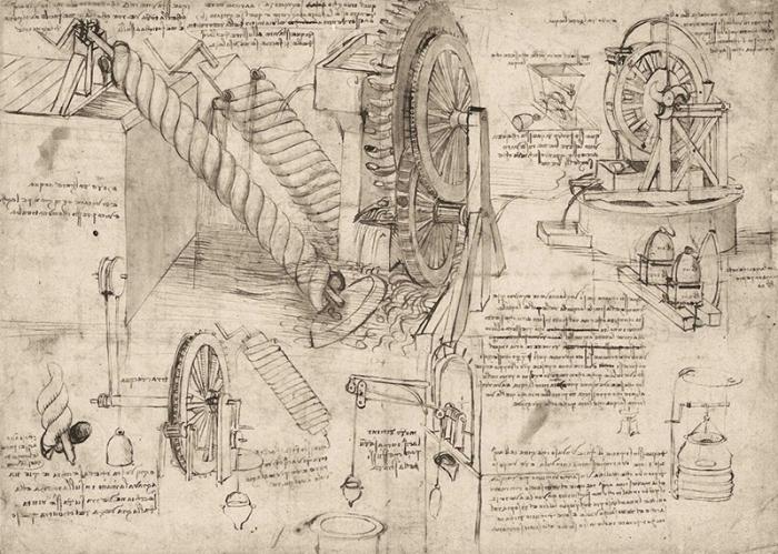 Гидравлические механизмы - архимедовы винты и водяные колеса