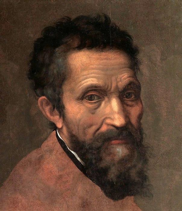 Микеланджело на портрете Даниэле да Вольтерра (ок. 1544 года)