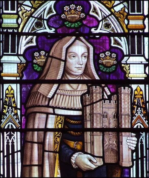 Леди Маргарет Бьюфортс, витраж в церкви св. Ботолфа