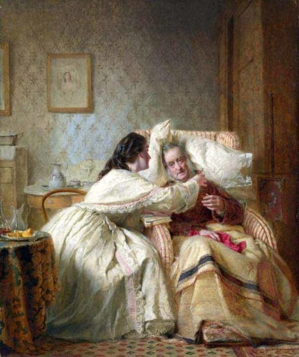 Джордж Хикс Элгар «Миссия женщины: Утешение старости», 1862 год