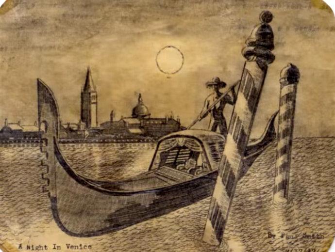 На своих картинах почти полностью парализованный художник часто изображал те места, где ему не суждено было побывать