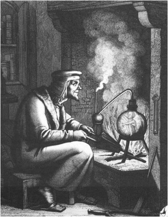Алхимик, создающий гомункула