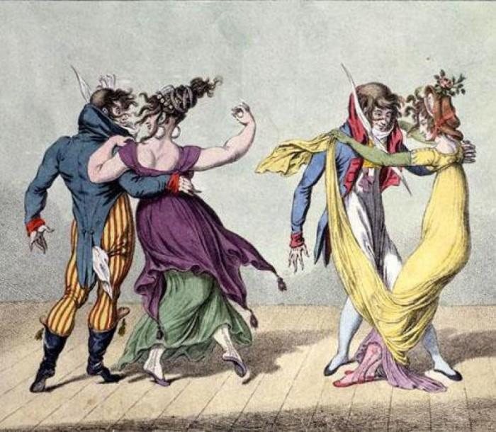 Бал жертв. Раскрашенная гравюра XVIII века