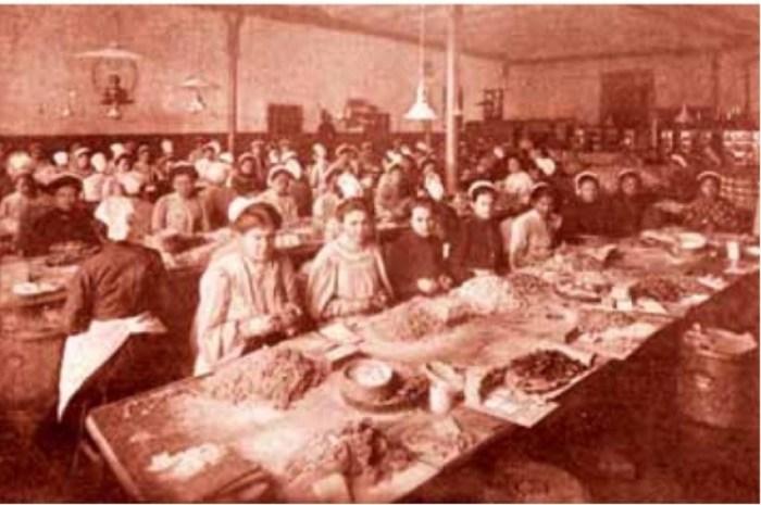 Цех по производству  карамели фабрики «С.Сиу и К», конец XIX века