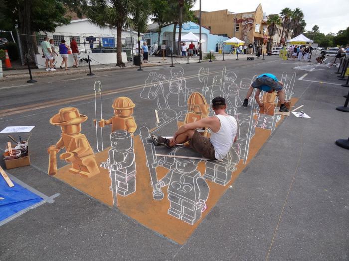 Так создается иллюзорная реальность уличных 3D-артов