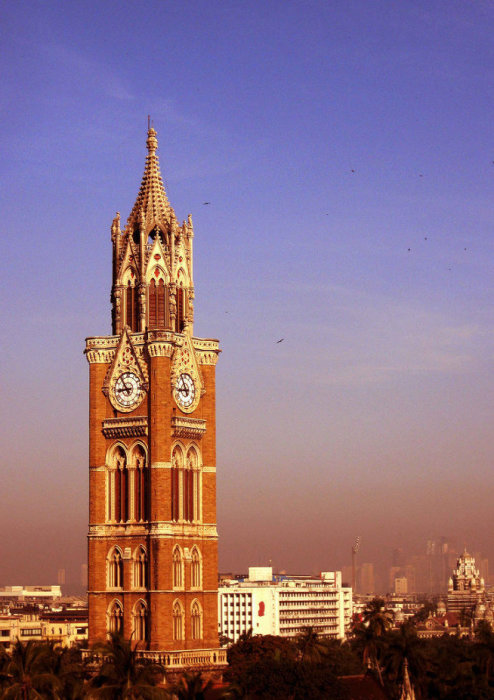 Часовая башня Раджабаи (Rajabai Clock Tower), Мумбай, Индия